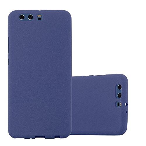 Cadorabo Custodia per Huawei P10 Plus in Frost Blu Scuro - Morbida Cover Protettiva Sottile di Silicone TPU con Bordo Protezione - Ultra Slim Case Antiurto Gel Back Bumper Guscio
