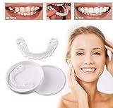 ZLLYT Dents Artificielles Perfect Smile Dentaire Prothèses Autocollant De Dents Artificielles Kit Faux Dent Réutilisables Et Amovibles,1PACK