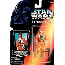 Star Wars: Power of the Force Red Card Luke Skywalker in X-Wing Fighter Pilot Gear with Short Lightsaber Action Figure