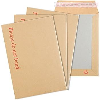25 Manilla Board Backed Self Seal Premier Envelopes A3//C3 Please do not bend