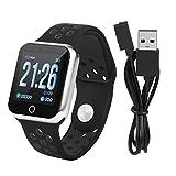 Zerone Fitness Tracker podómetro Smartwatch presión Arterial Ritmo cardíaco Monitor IP67 Impermeable Fitness Reloj Contador de Pasos Pulsera para Mujeres y Hombres para iOS y Android