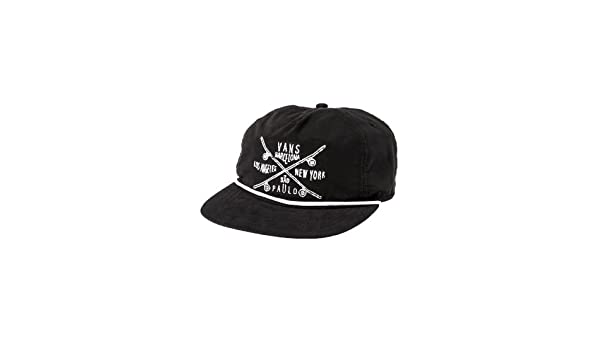 2668d74c37a Vans Men s Wanderer Skate Team Hat OS Black  Amazon.co.uk  Clothing