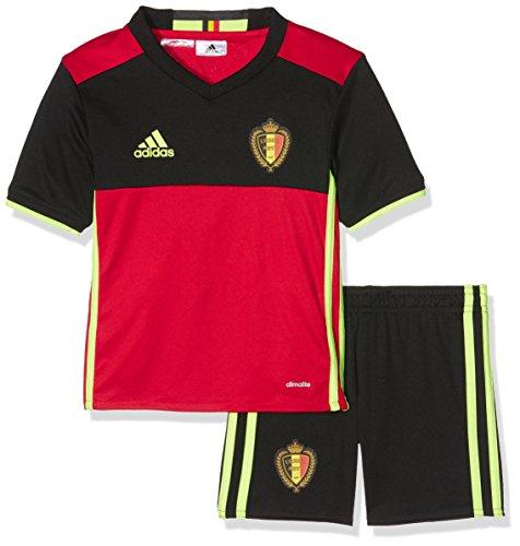 Kleinkind Fußball Jersey (adidas Jungen Fußball/Heim-ausrüstung Belgien Mini Shorts Set, scarle/black/syello, 92, AA8738)