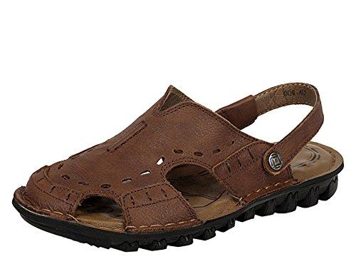 Insun Hommes Sandales De La Plage Mules Marron