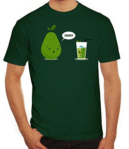 Geschenkidee Herren T-Shirt mit Mom - Juice Motiv von ShirtStreet Dunkelgrün