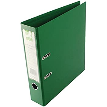 Q-Connect Green Foolscap Polypropylene Lever Arch File Pack of 10 KF20028