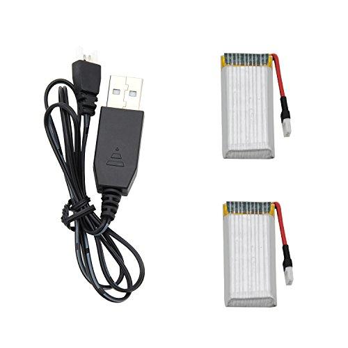 Potensic F186 Series Drone Bateria Battery 7.4V 500mAh( 2pcs) y un USB Cargador USB Charger (1pcs)