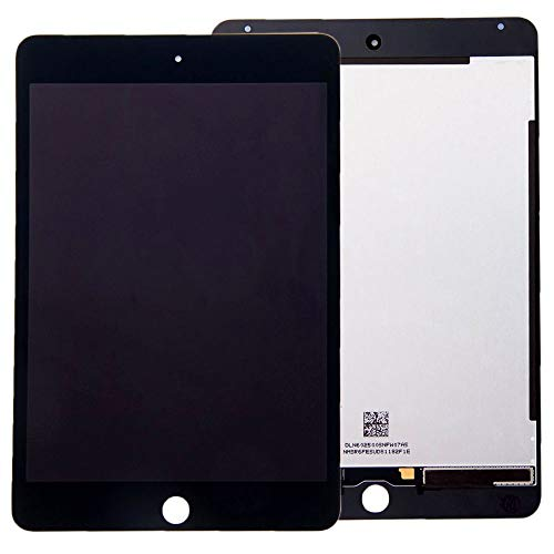 Wigento Komplett Displayeinheit Display für Apple iPad Mini 4 7.9 LCD Touch Screen Digitizer Ersatzteil Reparatur Zubehör Schwarz