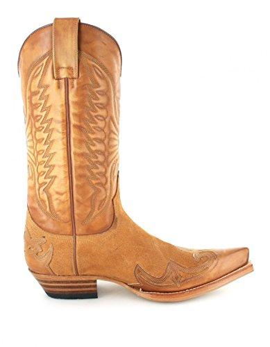 Sendra Boots 13170 Olimpia 023 Camello/Damen und Herren Westernstiefel Braun/Cowboystiefel/Damenstiefel/Herrenstiefel 023 Camello