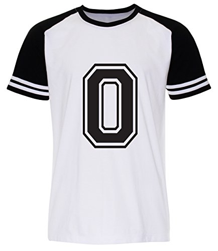 PALLAS Men's Number 0 Zero Street T Shirt White
