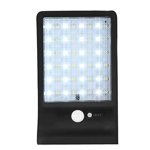 wasserdichte Lampe, 48 LEDs Solarlicht Farbe einstellbar DREI Modi wasserdichte Lampe mit Controller Wireless Security Lights für Zaun Hof Garten Garage Treppe(1#) 48 Led-farbe