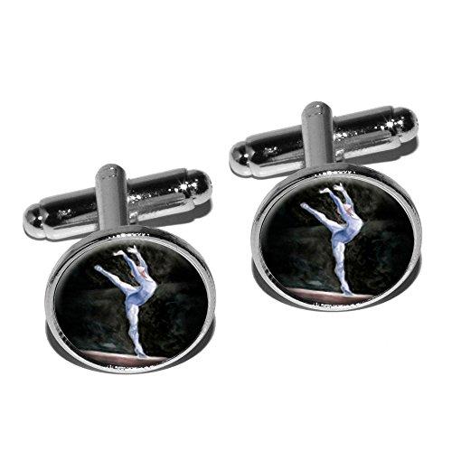 gymnaste-bleu-gymnastique-vault-cheval-darcons-boutons-de-manchette-rond-argent