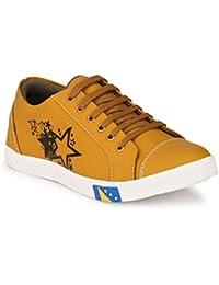 Lavista Men's Beige Synthetic Leather Casual Shoe.
