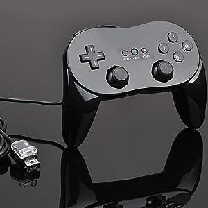 Manette classique pro. Wii Noire