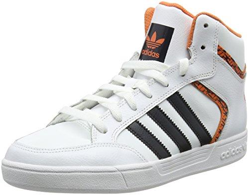 adidas Varial Mid, Scarpe da Skateboard Uomo Bianco (Footwear White/carbon/trace Orange)