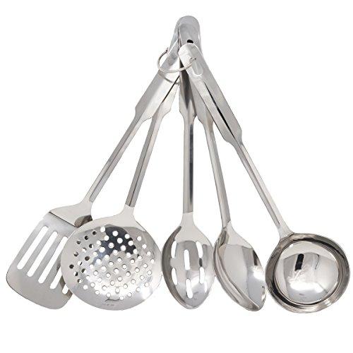 Amco 8796 Küchenutensilien-Set, 5-teilig, Edelstahl, mittelgroß Amco Gadgets