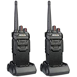 Retevis RT648 Talkie Walkie IP67 Imperméable sans Licence PMR446 VOX Scan Squelch Monitor(2Pcs,Noir)