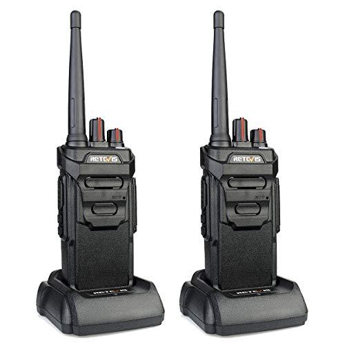 Retevis RT648 Talkie Walkie IP67 Imperméable sans Licence PMR446 VOX Scan Squelch Monitor(2Pcs,Noir)