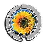 Taschenhaken, faltbar, Sonnenblumen-Design, aus Glas