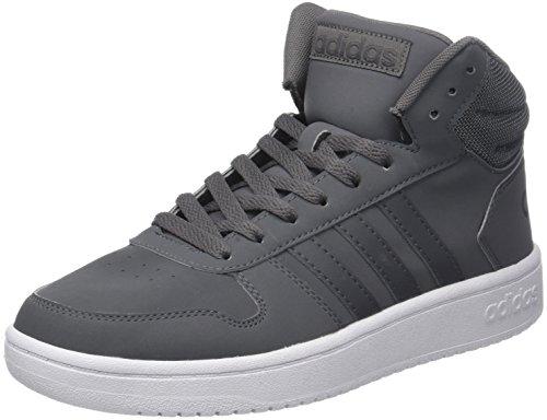 adidas Herren Vs Hoops 2.0 Mid Fitnessschuhe, Grau (Gricua/Gricua/Gricin 000), 45 1/3 EU - Adidas Herren Basketball Schuh