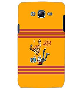 PrintDhaba BANNED D-6598 Back Case Cover for SAMSUNG GALAXY ON5 (Multi-Coloured)
