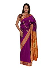 A1 Fashion Women Silk Pink Saree With Blouse Piece