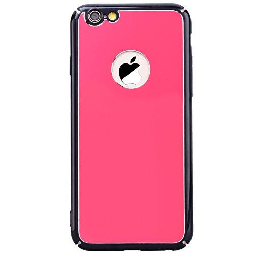 WE LOVE CASE iPhone 6 Plus / 6S Plus Coque, Étui de Protection en Premium Hard Plastique Dur Housse Mince et Clair, Bumper Cas Anti-Rayures Couverture Anti-dérapante Coque pour Apple iPhone 6 Plus iPh rose rouge