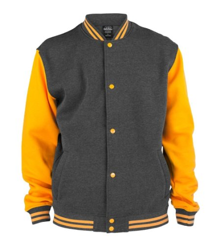 Urban Classics - Blouson Homme Charcoal/Orange