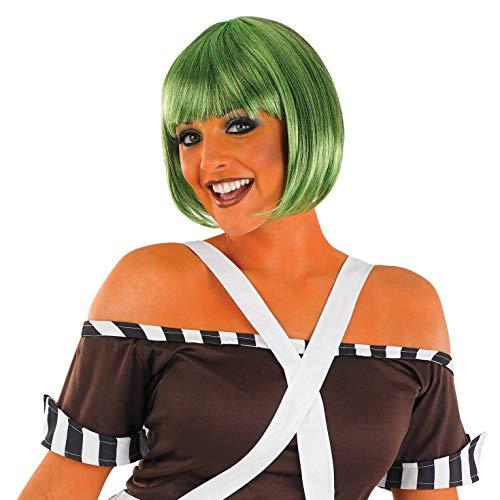 Dunkelgrüne Bob-Perücke - Arbeiter - erwachsenes Abendkleid