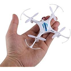 Mini RC Quadcopter, FPVRC K8 2.4G 4 CH Nano Drone con modo Headless, RTF RC Helicóptero (Blanco)