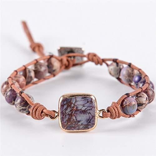 Imagen de hwoemx best friends piedras naturales pulsera de cuentas con cuentas pulseras hechas a mano joyas color1