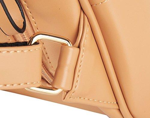 Damen Frauen Fashion Vintage Modisch Casual Vintage Haltbare Taschen Mori Mädchen Rucksack Leder (bräunen) bräunen
