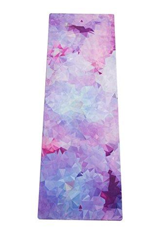 MALA HYBRID Premium Yogamatte Cherry Blossom aus Naturkautschuk mit Mikrofaser-Oberfläche für Bikram-Yoga, Hot-Yoga, Vinyasa, Crossfit, Fitness und andere Workouts, extra lang Hot Pink Matte