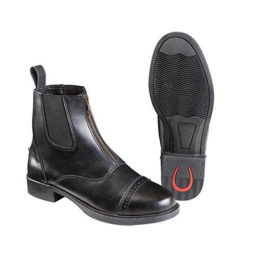 Jodhpurstiefelette Zip synthetisches Leder Equi-Theme schwarz 39