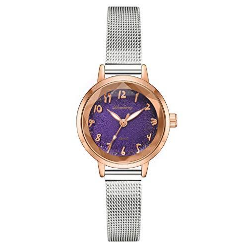 uhr Stilvolle und einfache Matte Disk Digital Silver Mesh mit Quarz weiblichen Uhr Damen Uhren Billig C ()