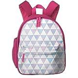Mochila Infantil niña,Patrón de triángulo en algodón de azúcar Watercolor_5894 - raccoongirl, para escuelas de niños Tela Oxford (Rosa)