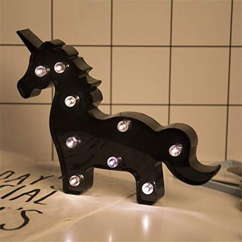 CC6 Lumière de Nuit Noir Ins Accessoires de Tête de Licorne Tir Décoratif Lumières LED Lampe de Bureau Mignon Salle des Enfants Styling Nuit Lumière Rêve Tenture Murale
