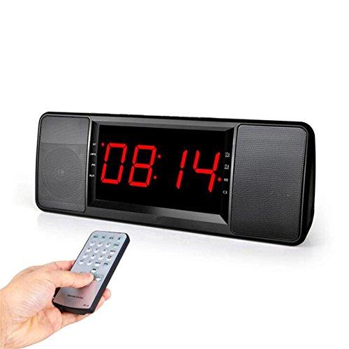 LCD-Digitalanzeige Drahtloser Bluetooth Lautsprecher FM Radio Doppel-Wecker TF Bluetooth Stereolautsprecher Mit Fernsteuerungs - Lcd-digitalanzeige