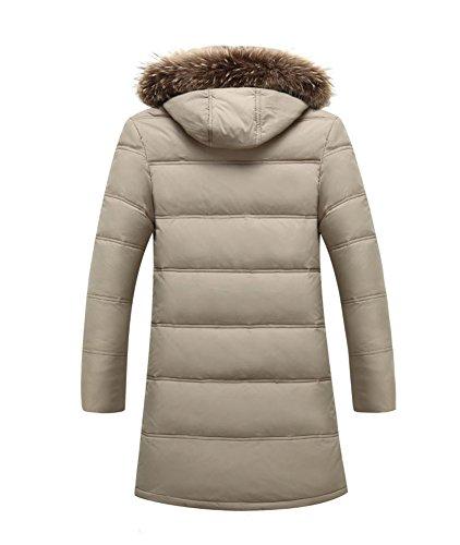 Smithroad warm Herren Parka mit Kapuze Wintermantel Funktionsjacke Übergangsjacke Outdoorjacke Winterjacke Kapuzenjacke Mantel Beige