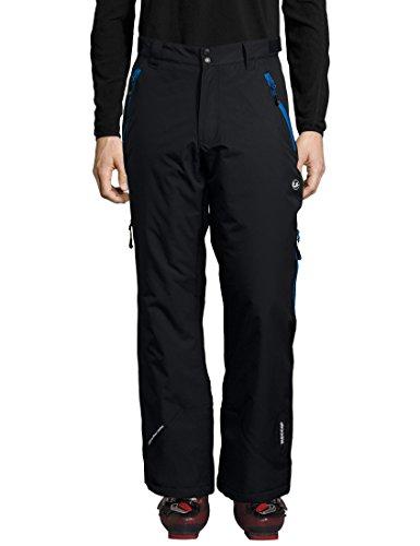 Ultrasport Herren Amud Ski- und Snowboard-Funktionshose, schwarz/blau, XL
