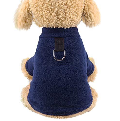 Herbst Winter Warm Haustier Hundekleidung Hundepullover Haustier Kleidung Sweatshirt Pullover Flanell Hundemantel Haustier Pure Jacke Für Kleine Katze Hund TWBB -