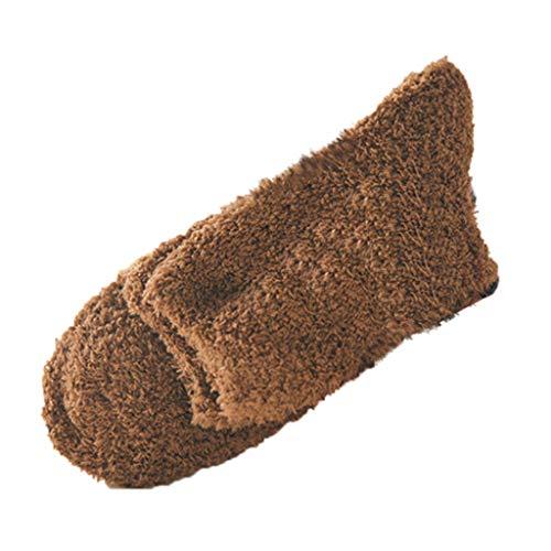 Tosonse Home Men Boy Soft Fuzzy Socken Bed Thermal Socken Bodensocken Fluffy Womens Socken Warm Winter Pure Color -