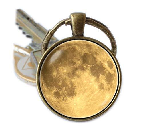 Beautiful Dandelion Llavero luna amarilla llavero