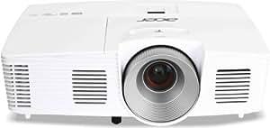 Acer H5380BD Proiettore, Risoluzione 720P, Contrasto 17.000:1, Luminosità 3.000 ANSI, VGA/HDMI/MHL, Bianco