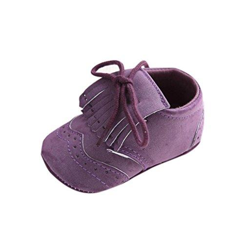 12 Schuh Monate Lila 18 Babym盲dchen Schn眉rung ~ Kleinkind rutschfest oder junge weiche Leder Alter Schwarz Hunpta Sohle fXR1Pqaw1