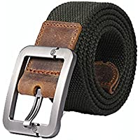 XIANGYINGZHIJIA Cinturón Cinturón Cinturón Cinturón Cinturón Casual Cinturón al Aire Libre, Ejército Verde 100cm