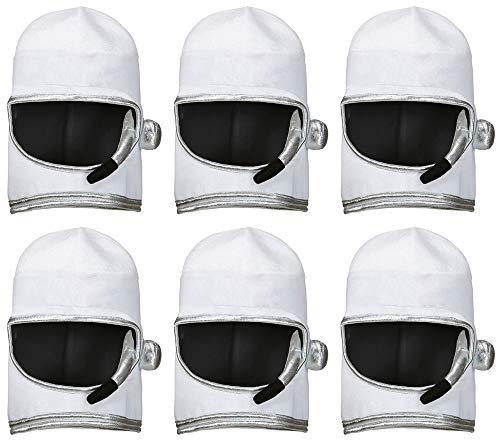 Weicher Astronauten Helm zum Kostüm - 6er Set