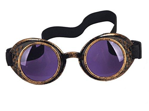 DODOING Damen Herren Brillen Weinlese-Art Steampunk Goggles Wedding Punk Vintage Brille Cosplay (Herren Punk Fancy Dress)