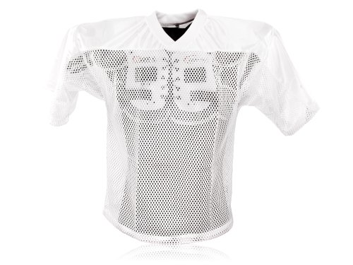 Full Force Erwachsene Trainingstrikot Einfaches American Football, Weiß, XL/XXL, FF0208030115