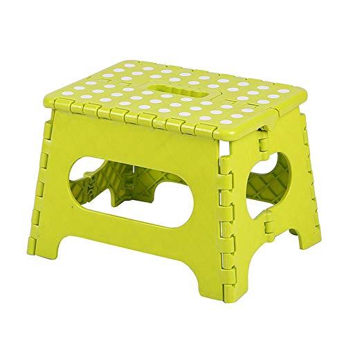 JOHNLI IKEA Kinderhocker,29x22x22cm tragbarer Kunststoff-Klapphocker für Erwachsene, Kinderbad, kleine Bank @ grün,Camping Hocker